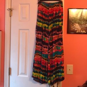 tie dyed palazzo pants in size small
